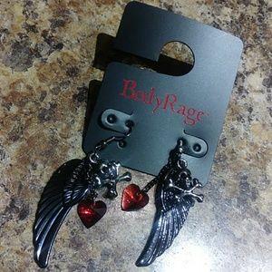 Bone Angel Earrings